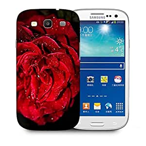 Snoogg Water On Red Rose Printed Protective Phone Back Case Cover For Samsung S3 / S III