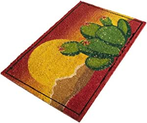 DII Desert Cactus Sunset Coir Doormat with Vinyl Back (Discontinued by Manufacturer)