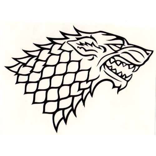 Amazon.com: Game of Thrones DIRE WOLF House of Stark vinyl die cut