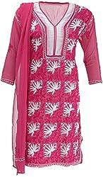 AKS Lucknow Women's Regular Fit Kurti (TK-39_44, MEGENTA, 44)