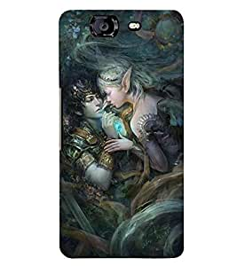 PRINTSWAG LOVE COUPLE Designer Back Cover Case for MICROMAX A350 CANVAS KNIGHT