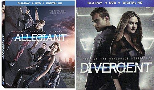 Divergent Steelbook Edition & The Divergent Series: Allegiant 3D Cover (Blu-ray + DVD) Bundle Movie Pack