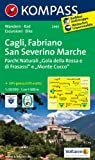 Cagli - Fabriano - San Severino Marche: Wanderkarte mit Radtouren. GPS-genau. 1:50000