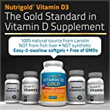 Nutrigold Vitamin D3 Gold (in Organic Olive Oil), 5000 IU, 360 softgels