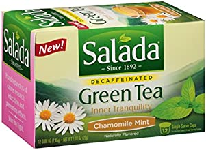 Salada Inner Tranquility- Chamomile Mint Green Tea Single Serve - 12ct