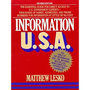 Information U.S.A.: Revised Edition (Lesko's Info-Power) Matthew Lesko