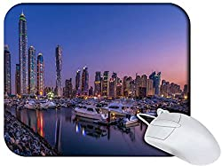Snoogg Yourd View At Night Non Slip Rubber Mouse Pad