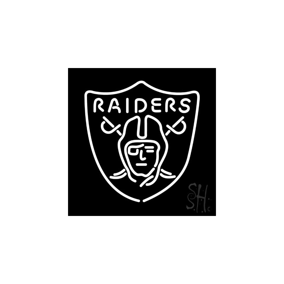 "Oakland Raiders NFL Neon Sign 24"" Tall x 24"" Wide x 3"" Deep  Business And Store Signs"