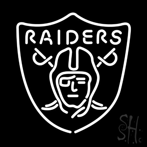Oakland Raiders Neon Light, Raiders Neon Sign, Neon