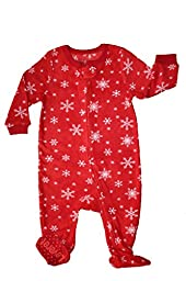 Footed Fleece Sleeper Snowflake 12-18 M