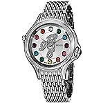 Fendi Crazy Carats Ladies Silver Diamond Dial Stainless Steel Swiss Made Gemstone Watch F10503600...