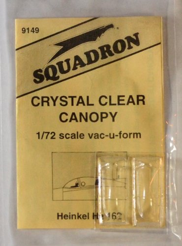 Squadron Products He 162 Vacuform Canopy