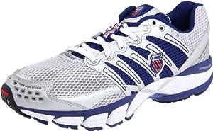 K-Swiss Men's Keahou II Running Shoe, Silver/Blueprint/Red, 14 M