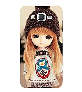 Evaluze attractive girl Printed Back Cover for SAMSUNG GALAXY J7 2015
