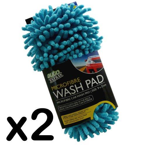 Microfibre Car Wash Pad - 90,000 Fibres Per Inch (Pack of 2)