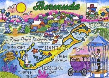 Bermuda Map Collectible Souvenir Playing Cards