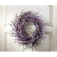 Purple Wreath - Lavender-inspired Dried Door Wreath Product SKU: HD223193