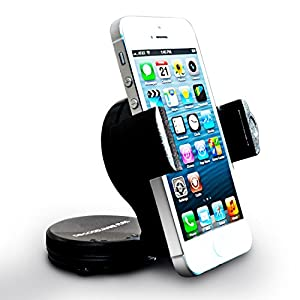 Do Good Have Fun™ Cell Phone Car Mount Rotates 360 Degrees ­ Swivels 180 Degrees ­Perfect Cell Phone Cradle For Most Popular Cell Phones