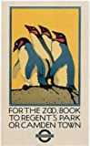 London Underground Poster For The Zoo Book Regents Park Or Camden Town - On Matte Paper A3 Size