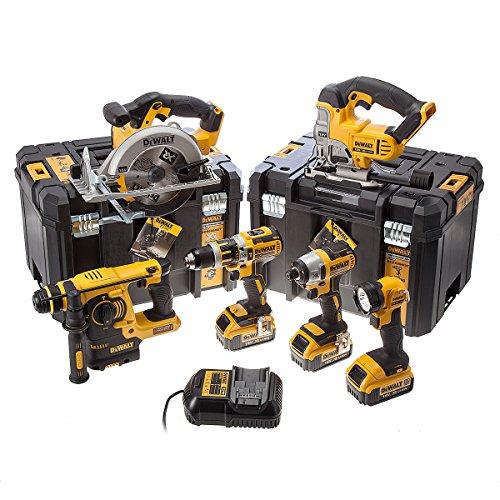 519RWS7ES5L - BEST BUY #1 Dewalt DCK699M3T 18 V Cordless Kit (6-Piece)