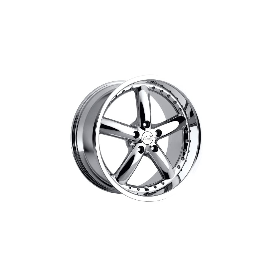 Coventry Hornet 20 Chrome Wheel / Rim 5x4.25 with a 42mm Offset and a 63.4 Hub Bore. Partnumber 2085COH425108C63