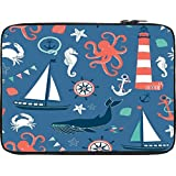 "Snoogg 15"" Inch To 15.5"" Inch To 14.6"" Inch Laptop Notebook Slipcase Sleeve Soft Case Carrying Case For Macbook Pro Acer Asus Dell Hp Sony Toshiba"
