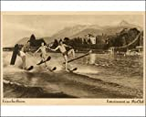 Photographic Print of Waterskiing fun in Lake Geneva at Evian-les-Bains from Mary Evans