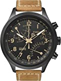 Timex Mens T2N700 Intelligent Quartz SL Series Fly-Back Chronograph Brown Leather Strap Watch