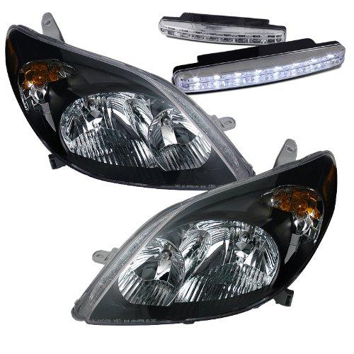 2003-2008 Toyota Matrix Headlights Lamps + 8 Led Fog Bumper Light