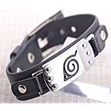 Anime Naruto Leaf Village Badge Alloy Unisex Bracelet Cosplay Wristband