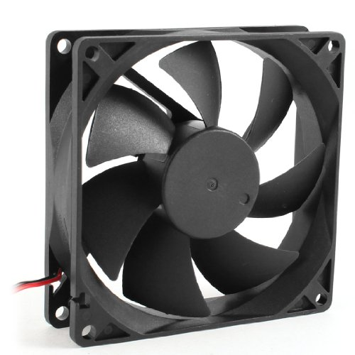 uxcell® 92mm x 25mm DC 12V 2 Terminal 65.01CFM Computer Case CPU Cooling Fan (Dc Fan 12v compare prices)