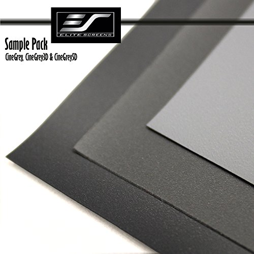 Great Deal! Elite Screens GRAY Projection Screen Material Sample Pack Includes 3 Samples. SamplePack3G