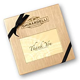 Ghirardelli Chocolate Thank You for Your Business Deluxe Gift Box with SQUARES Chocolates, 50 ct.