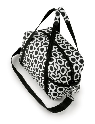 Koko Susie Lunch Bag, Black and White Geo Cotton