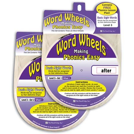 Word Wheels - Basic Sight Words - Level 3 , Set 2