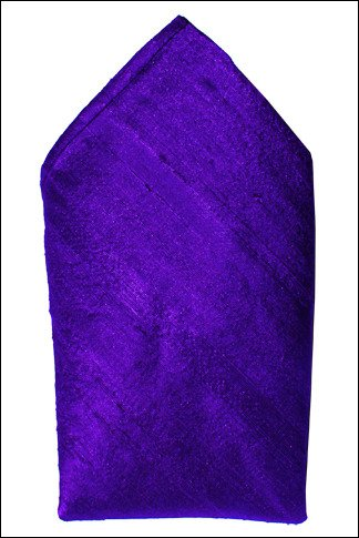 Royal Purple Dupioni Silk Handkerchief