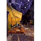The Café Terrace on the Place du Forum, Arles, at Night, c.1888 Poster Print by Vincent van Gogh, 24x36 Poster...