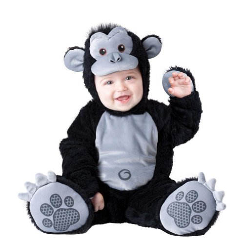 Boo Infant Boys & Girls Plush Black Goofy Gorilla Costume Monkey Outfit