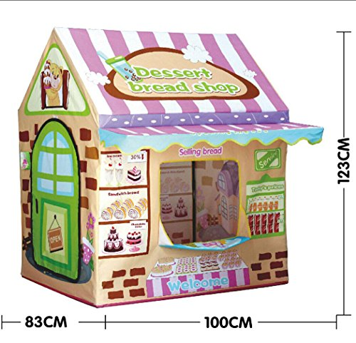 Kids Play House Tent,Lwang Playhouse Bread House for Girls and Boys Play Tent Great Children Gift