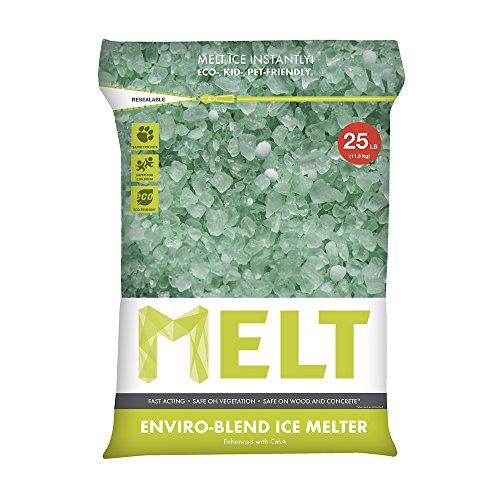 Snow Joe MELT25EB Melt Premium Enviro Blend Ice Melter with CMA Resealable Bag, 25-Pound