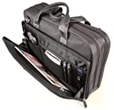 Mobile Edge 16-Inch Premium Nylon Laptop Briefcase - Black (MEBCNP1)