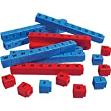 Unifix Letter Cubes - 90 Piece Set of Blue Consonants and Red Vowels Language Learning Tools