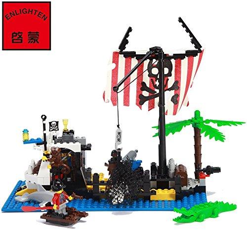 Enlighten-Building-Blocks-Set-for-Kids-with-mini-figure-Pirate-Series-Building-Bricks-Shipwrecks-Corsair-Toy-238-pieces-Compatible
