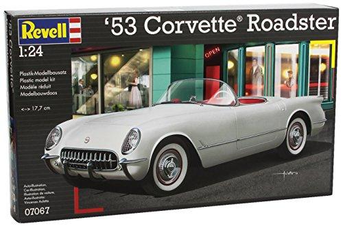 Revell 07067 - 53 Corvette Roadster Kit di Modello in Plastica, Scala 1:24