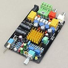 DROK® TA2021 Digital Amplifier DIY Kit 12V 2ch Audio stereo Power Amp Board DC 11-14.5V