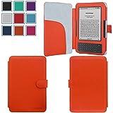 Kindle Keyboard (Kindle 3) Case,HOTCOOL Slim Premium New PU Leather Folio Cover Case For Amazon Kindle Keyboard(3th Generation), Orange