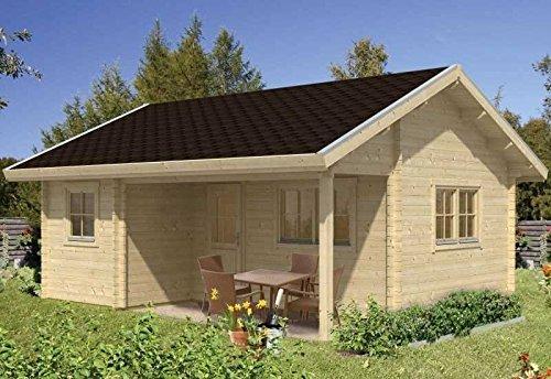 Skan Holz Blockbohlenhaus Ontario 70plus, 600 x 500 cm günstig kaufen