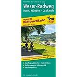 Radwanderkarte Weser-Radweg: Mit Ausflugszielen, Einkehr- & Freizeittipps, reissfest, wetterfest, abwischbar, GPS-genau. 1:50000