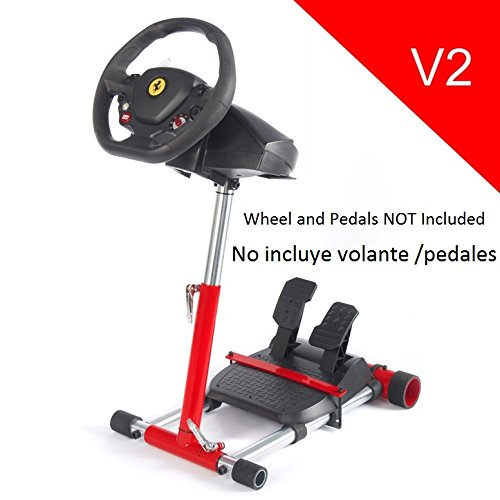 V2 Red Racing Steering Wheelstand for Original Thrustmaster F458(Xbox 360 Version), F458 Spider(Xbox One) T80, T100, RGT, Ferrari GT and F430; Wheel Stand Pro V2 Stand: Wheel and Pedals Not included (Xbox 360 Steering Wheel Stand compare prices)