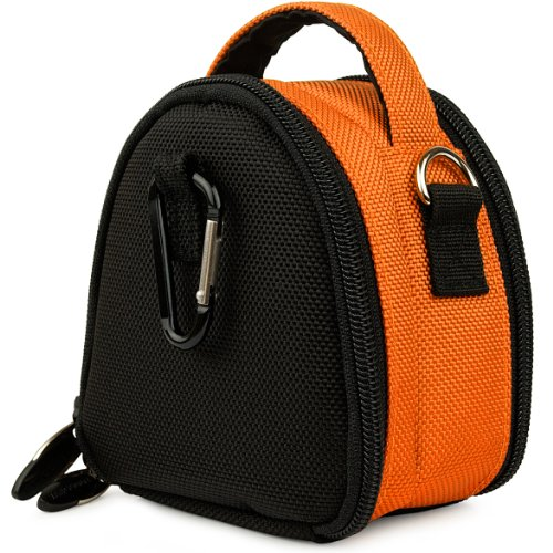 Orange VG Laurel Edition Stylish Nylon Camera Carrying Case Pouch for Samsung ST66 ST93 ST95 ST90 ST65 ST30 ST700 ST80 ST100 ST550 SL202 SL30 SL102 DV300F MV800 PL150 PL170 PL120 PL200 PL210 PL100 SH100 WB210 WB700 WB2000 AQ100 WP10 TL350 TL210 TL205 TL24